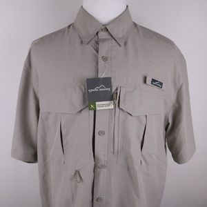 EDDIE BAUER Men's Performance Shirt XL * NWT Fish